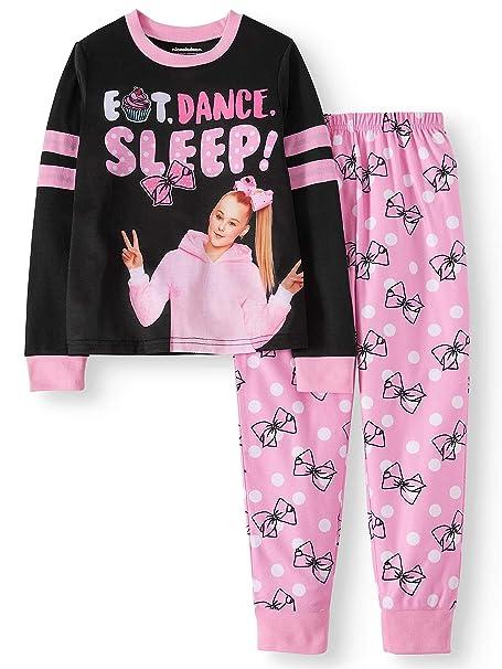 da30568709ef Amazon.com  JoJo Siwa Pajamas Girls Long Sleeve Pj Set 2 Pc Shirt ...