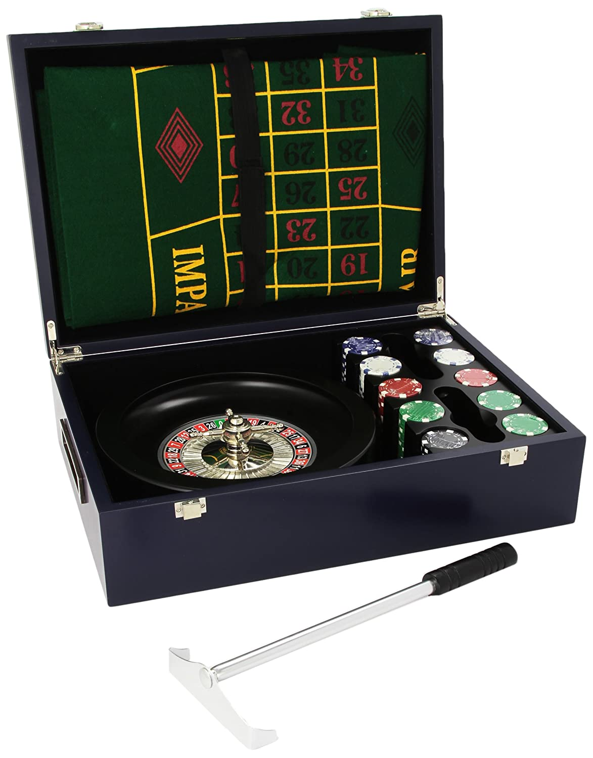 Juego JU00074 Merlino Roulette Set inkl. Teppich + Chips - Mehrfarbig