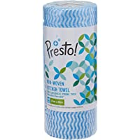 Amazon Brand - Presto! Non-Woven Kitchen Towel Roll - 80 Pulls (Blue)