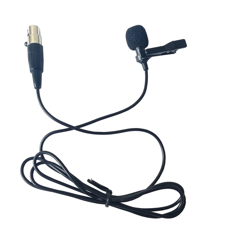 conector de rosca mono de 3.5 mm Samje Pro Condenser Lavalier Lapel Clip en un micr/ófono cardioide para varios tipos de transmisor inal/ámbrico