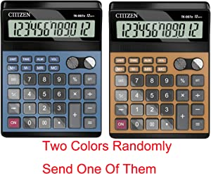Voice Calculators, Electronic Desktop Calculator with 12 Digit Large Display, AA Battery LCD Display Office Calculator