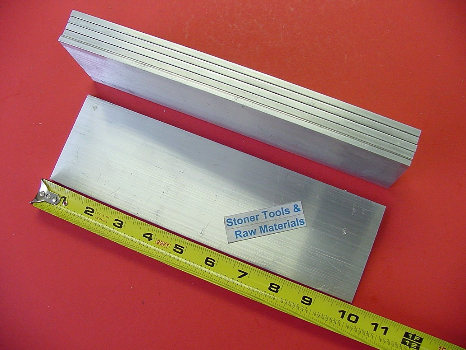 "2 pieces 3//4/"" X 3-1//2/"" ALUMINUM 6061 FLAT BAR 20/"" long Solid T6511 Mill Stock"