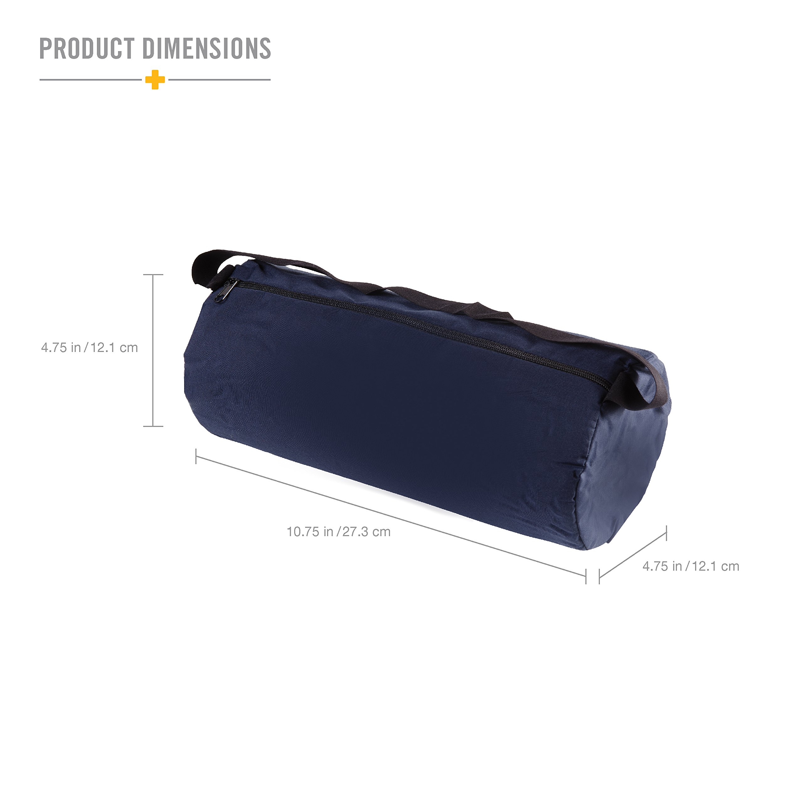 DMI Lumbar Roll Back Support Cushion Pillow - Foam Lumbar Cushion with Cover and Strap, Navy by Duro-Med (Image #3)