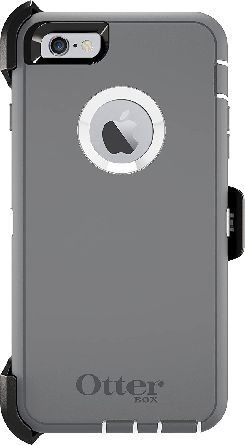 promo code 55afe 38f0b OtterBox DEFENDER iPhone 6 Plus/6s Plus Case - Retail Packaging - GLACIER  (WHITE/GUNMETAL GREY)