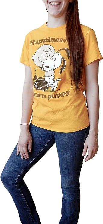 Women's Peanuts Charlie Brown Warm Puppy T-shirt. M to XL