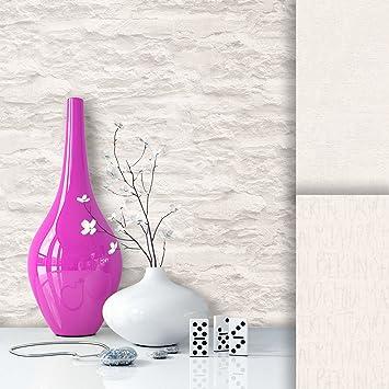 Steintapete Vliestapete Weiß Creme Edel , Schöne Edle Tapete Im Steinmauer  Design , Moderne 3D Optik