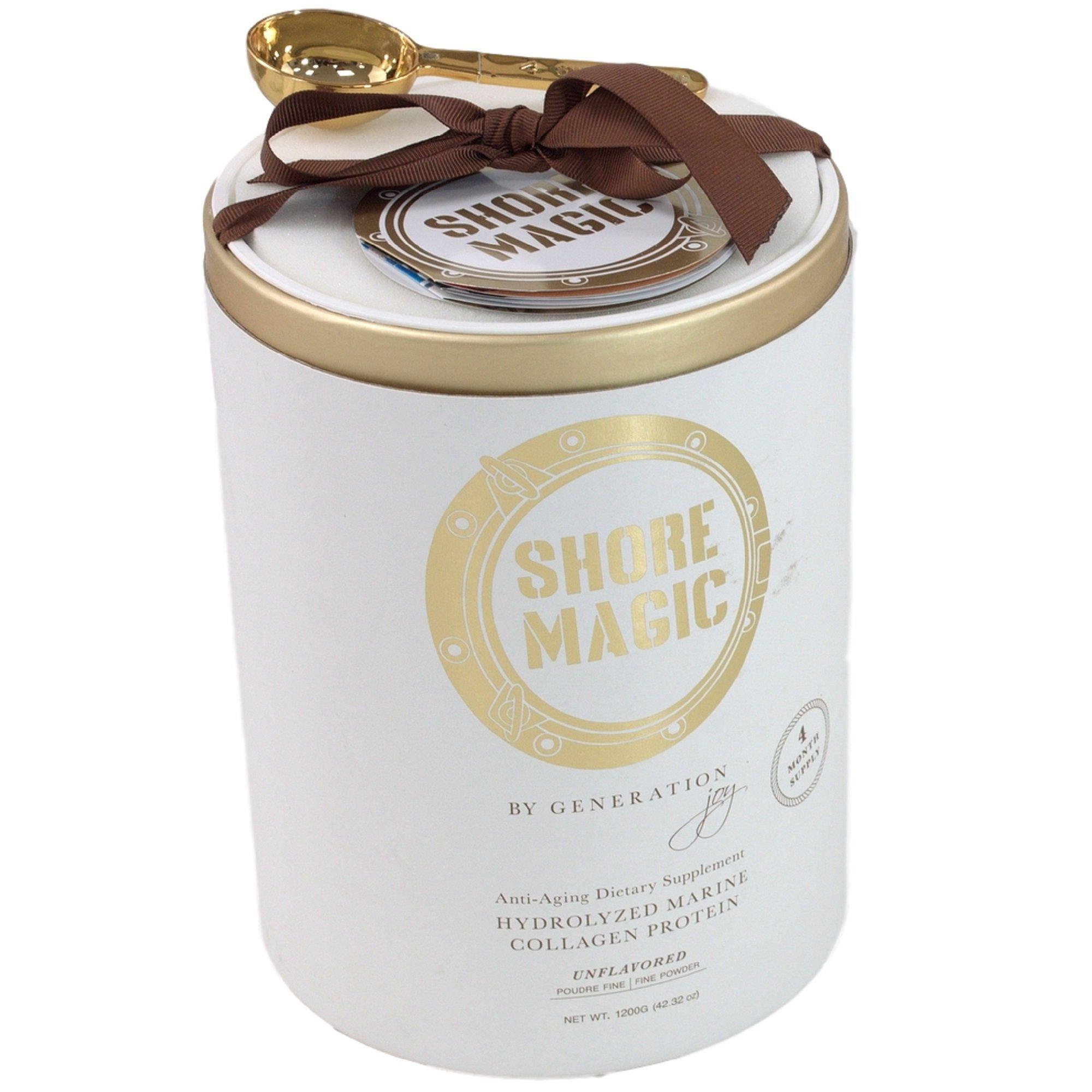 Shore Magic Pure Premium ONE INGREDIENT LUXURY Hydrolyzed Marine Collagen Powder (1200 Gram, Four Month Supply)