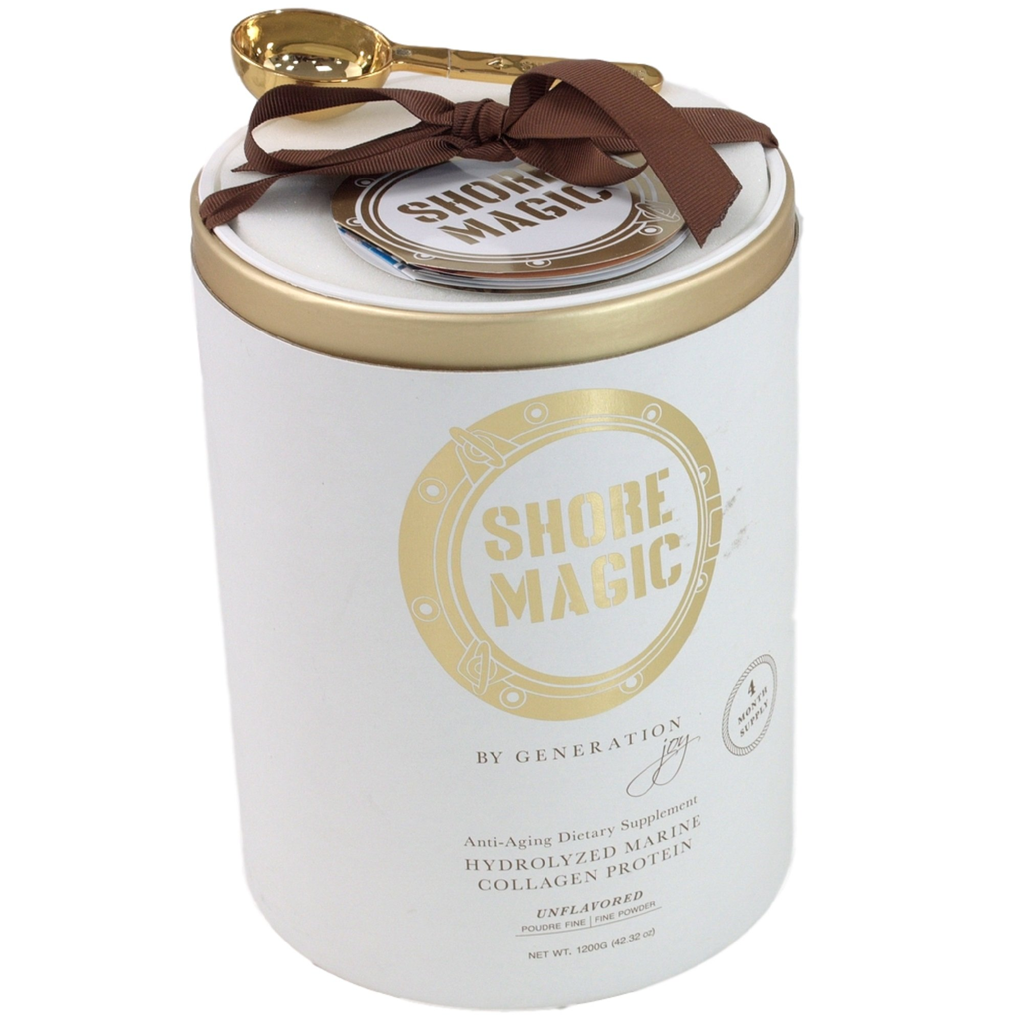 Shore Magic Pure Premium ONE INGREDIENT LUXURY Hydrolyzed Marine Collagen Powder (1200 Gram, Four Month Supply) by Shore Magic® (Image #1)