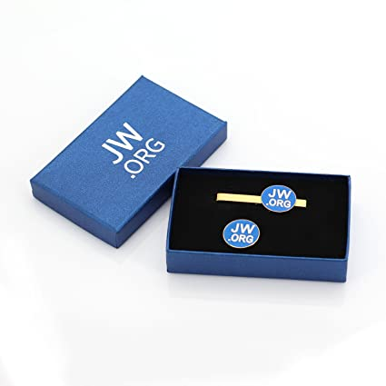 370bbd3dea2d Amazon.com: JW.ORG Metal Necktie Clip and Lapel Pin Gift Set (Gold Color  with gift box): Arts, Crafts & Sewing
