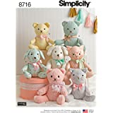 Simplicity Creative Patterns US8716OS Pattern 8716 Stuffed Animals Crafts