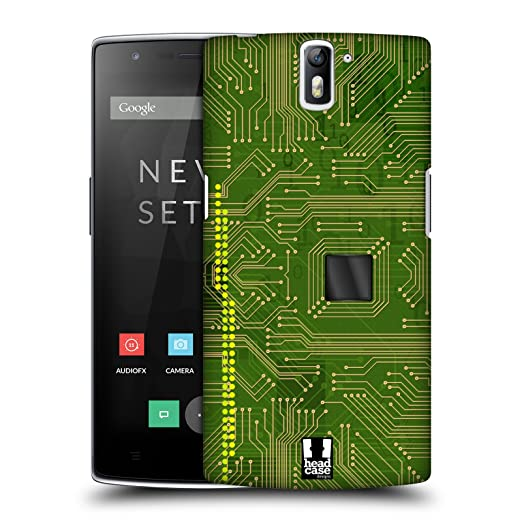10 opinioni per Head Case Designs Yellow Green Circuit Boards Protective Snap-on Hard Back Case