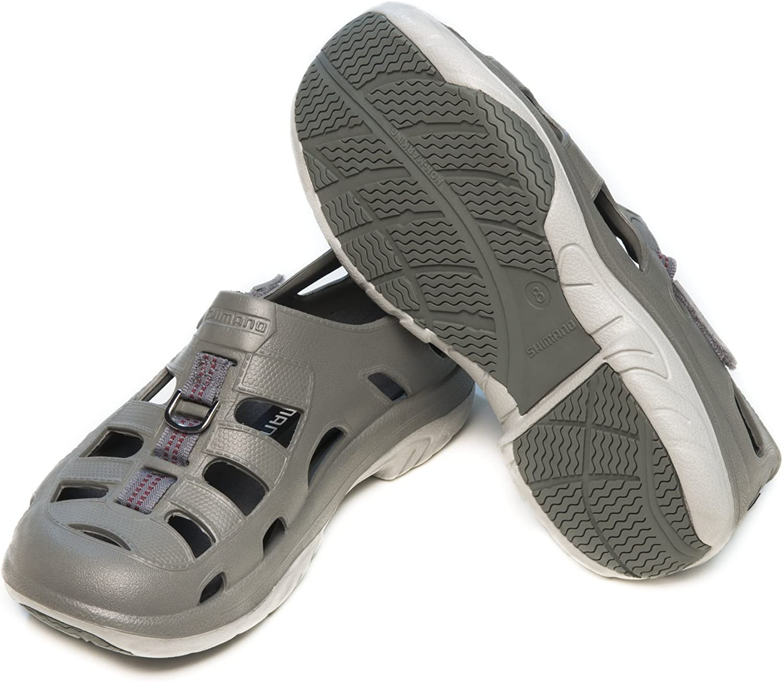 Mens 8 //Womens 10 Shimano Evair Marine Fishing Shoes Sandals NAVY /& GRAY Size