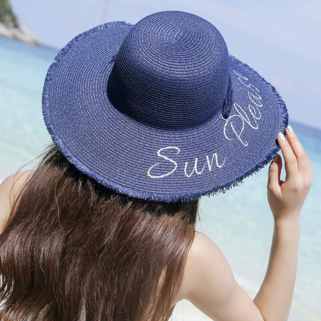 Women Summer Metal Standard Visor Pleated Sun Hat New Beach Hat