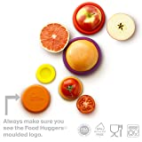 Food Huggers Set of Five Reusable Silicone Food Savers (Autumn Harvest)