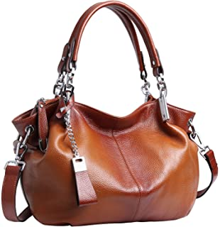 101d3b9af1 Heshe Womens Leather Handbags Ladies Designer Purse Tote Bag Top Handle Bag  Hobo Bag Shoulder Bag