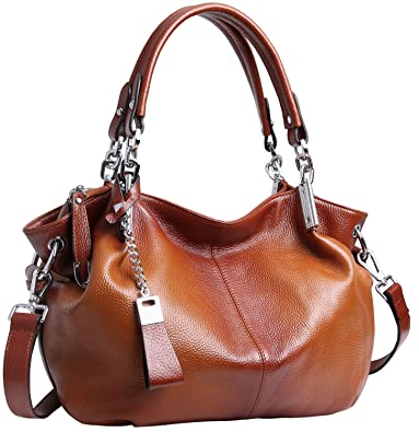 6d17161495de Amazon.com: Heshe Womens Leather Handbags Ladies Designer Purse Tote Bag  Top Handle Bag Hobo Bag Shoulder Bag Cross Body Bag (Sorrel): Shoes