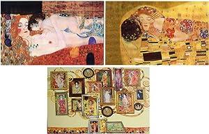 3 - Gustav Klimt - 3D Postcards - Kiss, Mother & Child and Animated Tree of Klimt Art Work - 3D Lenticular Postcards