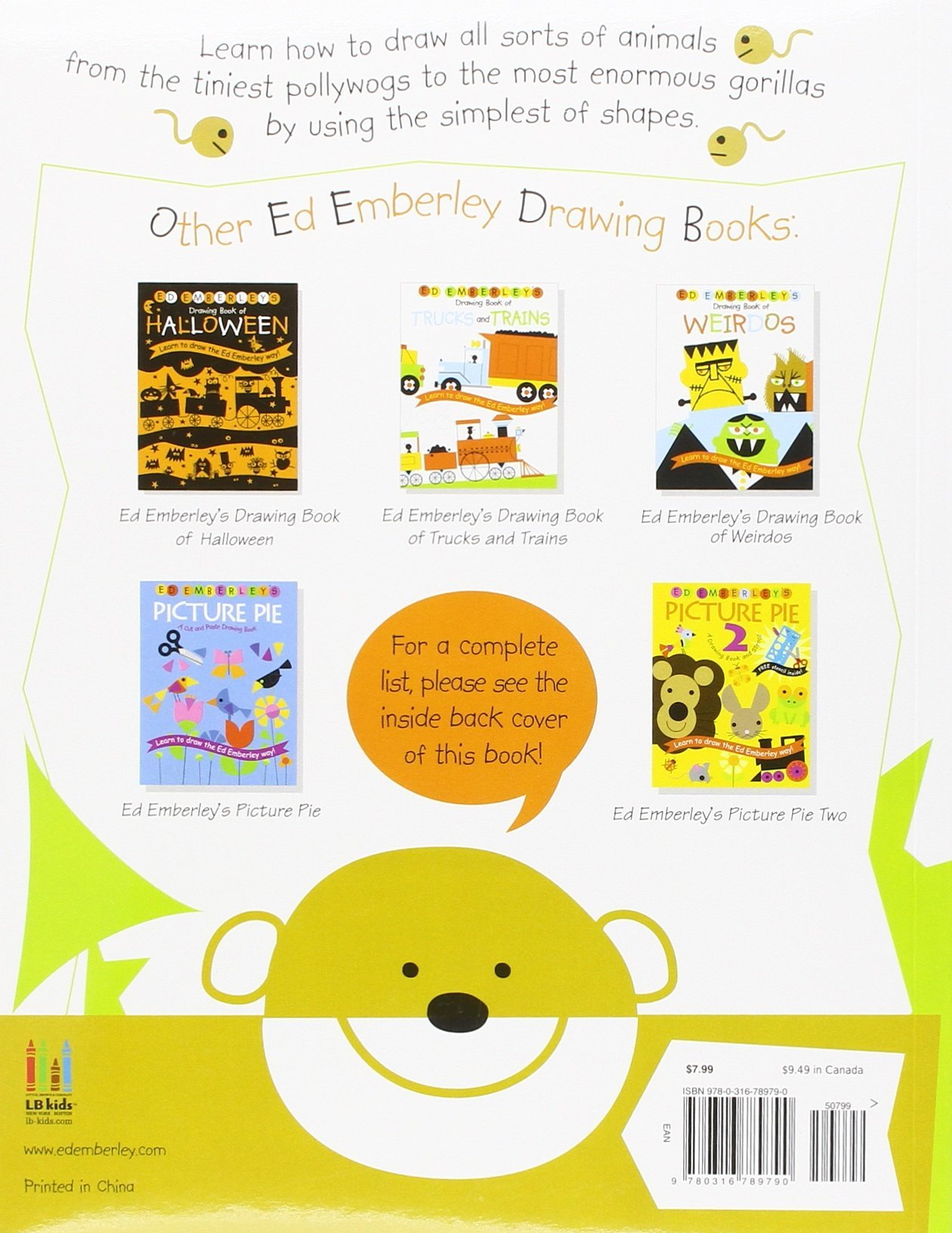 ed emberley u0027s drawing book of animals ed emberley 9780316789790