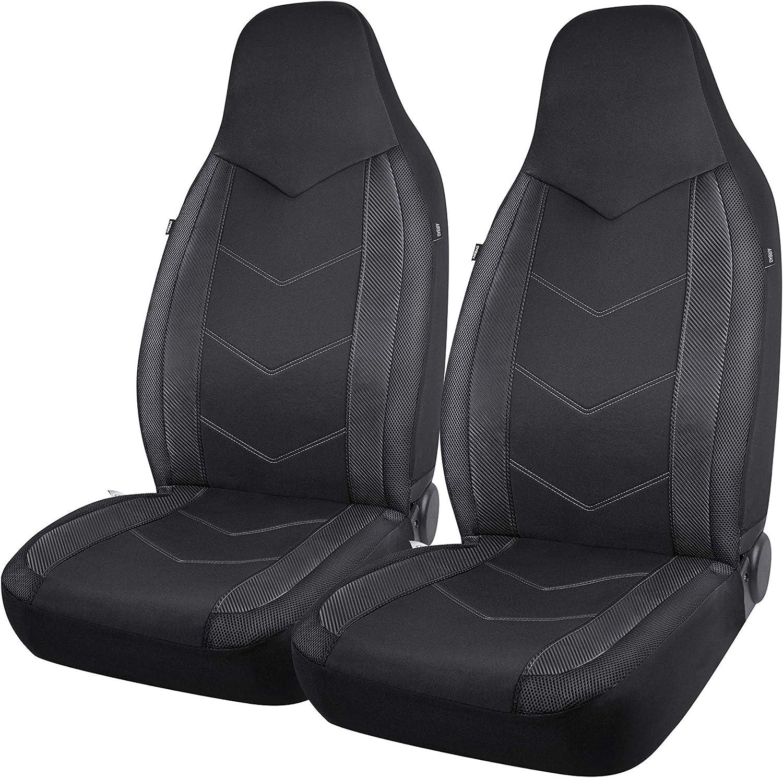 Black tech automotive Heavy Duty Water Resistant Front Seat Covers Protectors 1+1 S