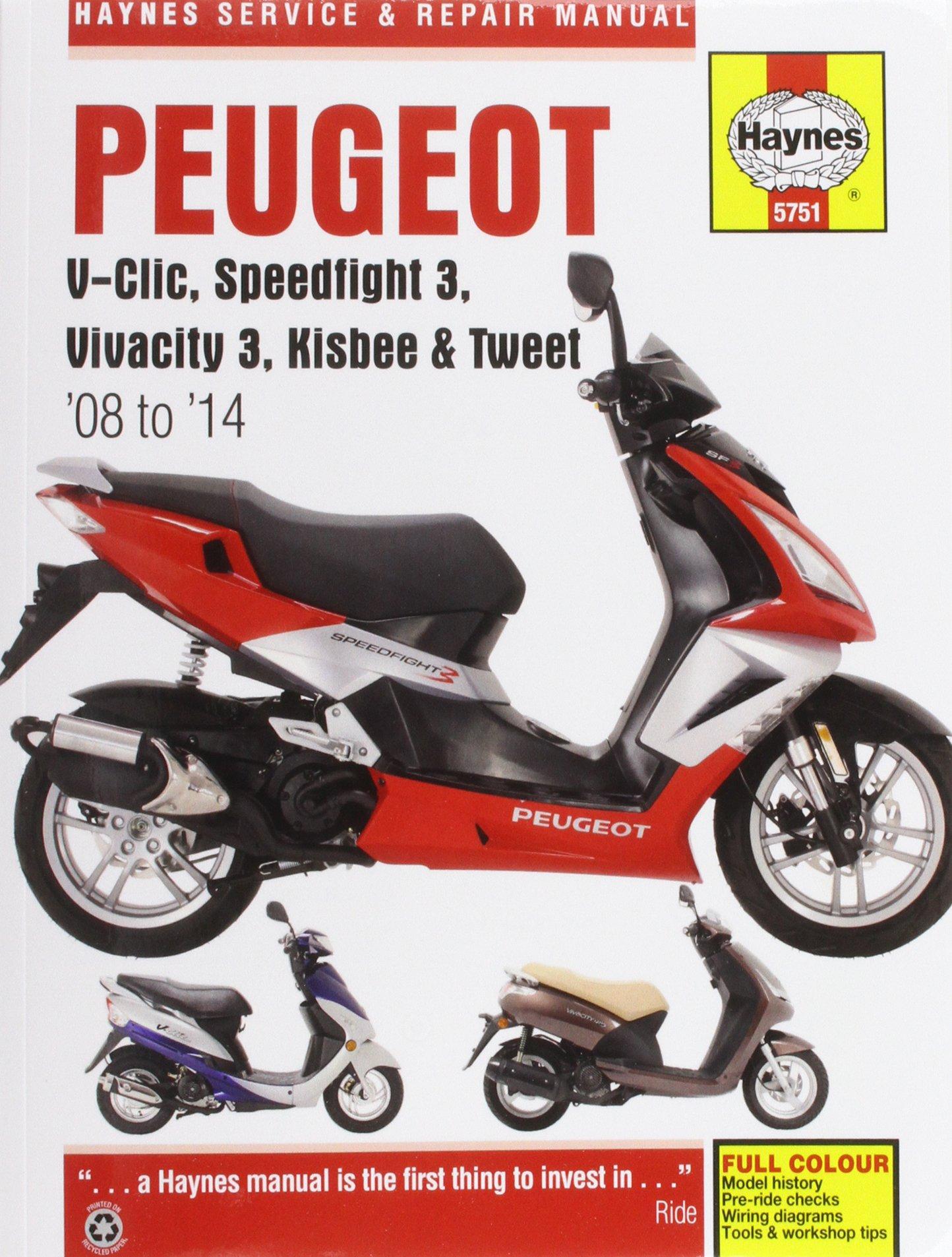 Peugeot V-Clic, Speedfight 3, Vivacity 3, Kisbee & Tweet 08 To 14 Haynes  Service & Repair Manual: Amazon.de: Phil Mather: Fremdsprachige Bücher