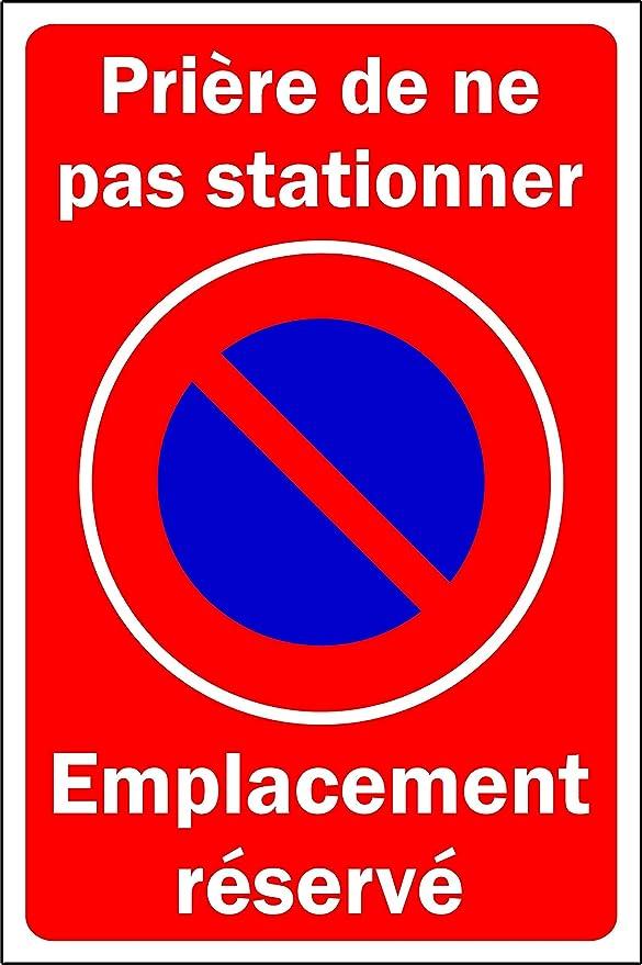 Cartel con Texto en inglés Oración de no estacionar (300 x ...