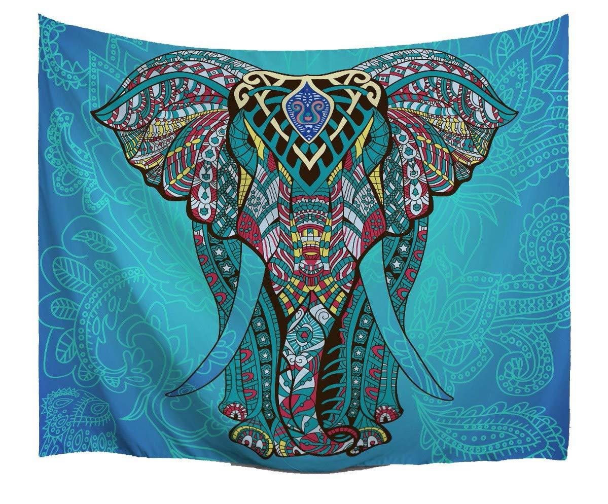 A.Monamour Tapices Azul Mandala Elefante Telón De Fondo Tribal ...