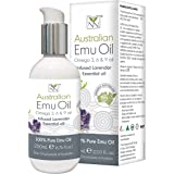 Y-Not Natural- Organic Pharmaceutical 100% Pure Emu Oil 200ml   Free Range Aboriginal Omega 3, 6 & 9 Oil Infused w/Lavender f