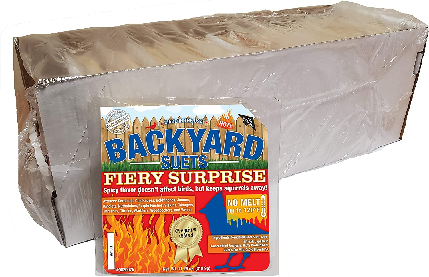 Backyard Seeds No Melt Premium Suet Cakes Made in The USA 12 Pack