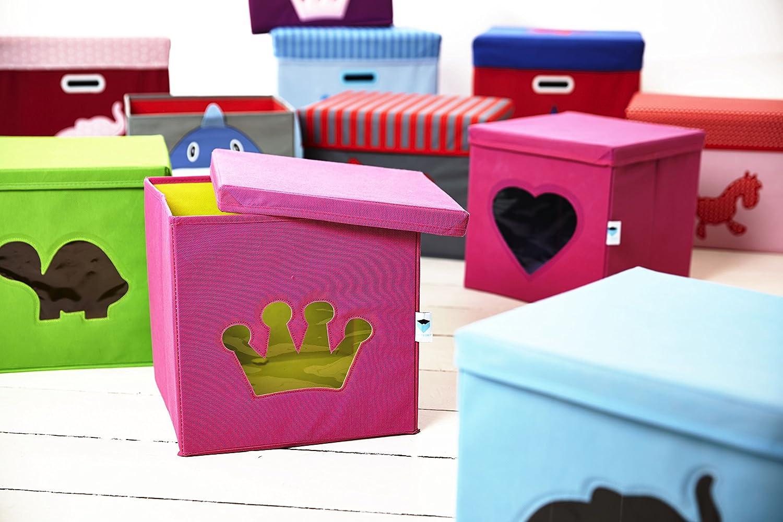 30 x 30 x 30 cm STORE.IT 750022 Caja Color Rosa y Blanco