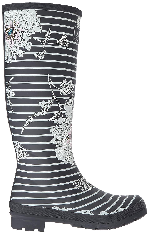 Joules Women's Welly Print Rain Boot B06XGL68BQ 10 B(M) US|Grey Peony Stripe