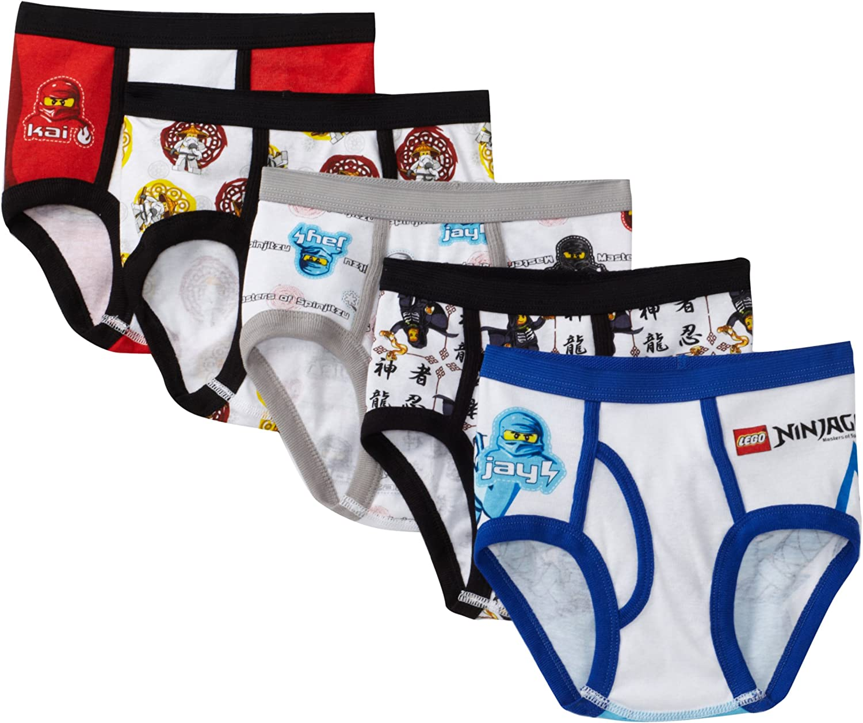 LEGO Boys 5-Pack Ninjago Brief Underwear