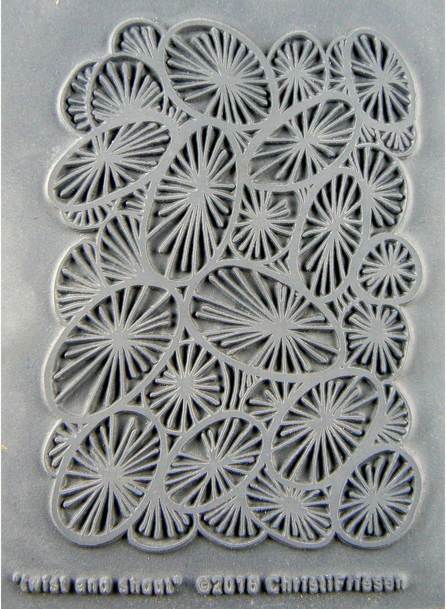 Great Create Christi Friesen Texture Stamp 4.25X5.5-Twist /& Shout