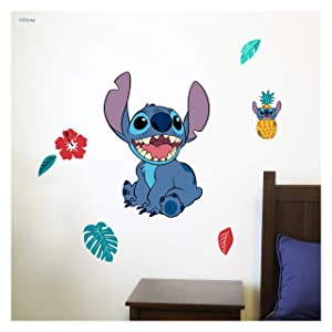 Disney Lilo and Stitch Wall Decal - Stitch Wall Decals with 3D Augmented Reality Interaction - Lilo & Stitch Bedroom Decor