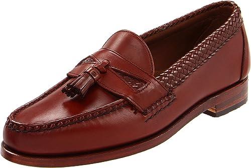Allen Edmonds Maxfield - Mocasines de Cuero para Hombre marrón Chili, Color marrón, Talla 42.5: Amazon.es: Zapatos y complementos