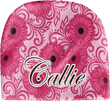 Beanie Personalized Pink Gerbera Daisy Baby Hat