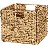 Household Essentials Wicker Open Storage Bin for Shelves, Natural
