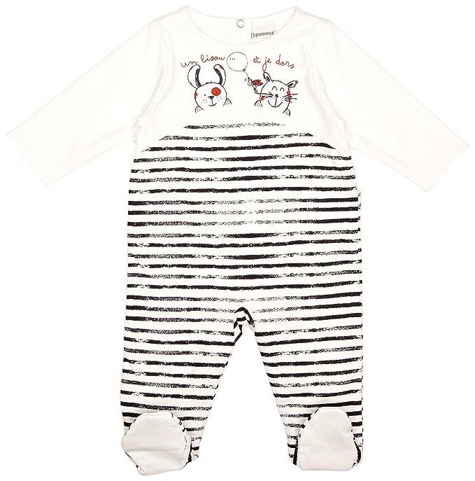 d187255afc 3 Pommes - Pijama a rayas para bebé