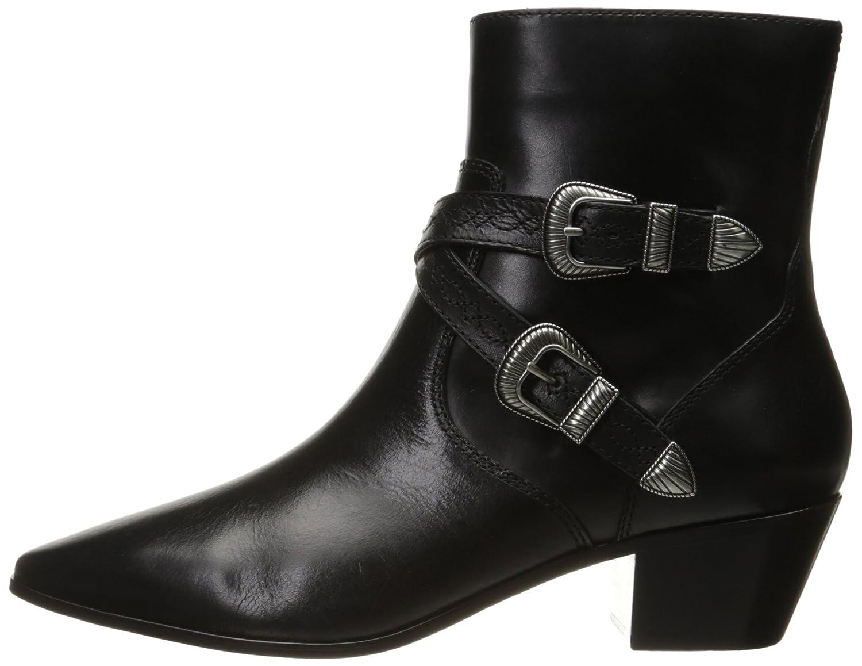 FRYE Women's Ellen Buckle Short Western Boot B01HIZX5KG 5.5 B(M) US|Black