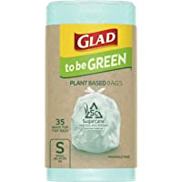 Glad to be Green Plant Based Bin Liner Bag, Small 18 Litre, 35 Pack