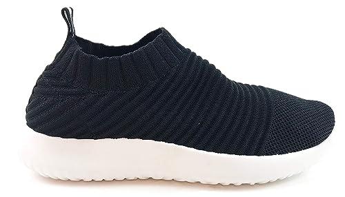 Zapatillas Deportivas Mujer Knit sin Cordones Super Adaptable Suela Blanca