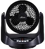 Hunter FSQ-MF09F-B Whole Room Table Fan - Black (Room Fan)