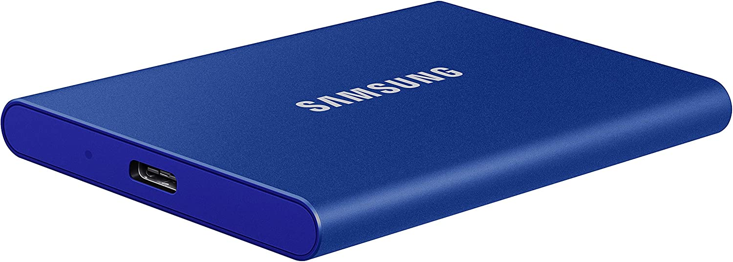 USB 3.2 Gen.2 External SSD Indigo Blue Samsung T7 Portable SSD MU-PC500H//WW 500 GB
