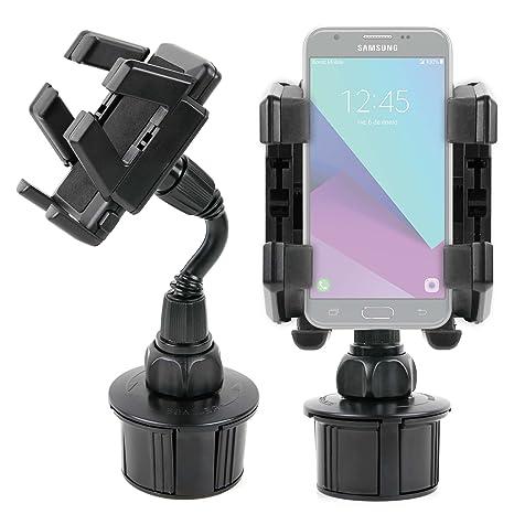 DURAGADGET Soporte Giratorio Para Portavasos Del Coche Para Smartphone Samsung Galaxy J3 , J5 (2017) / Huawei Y7 ...