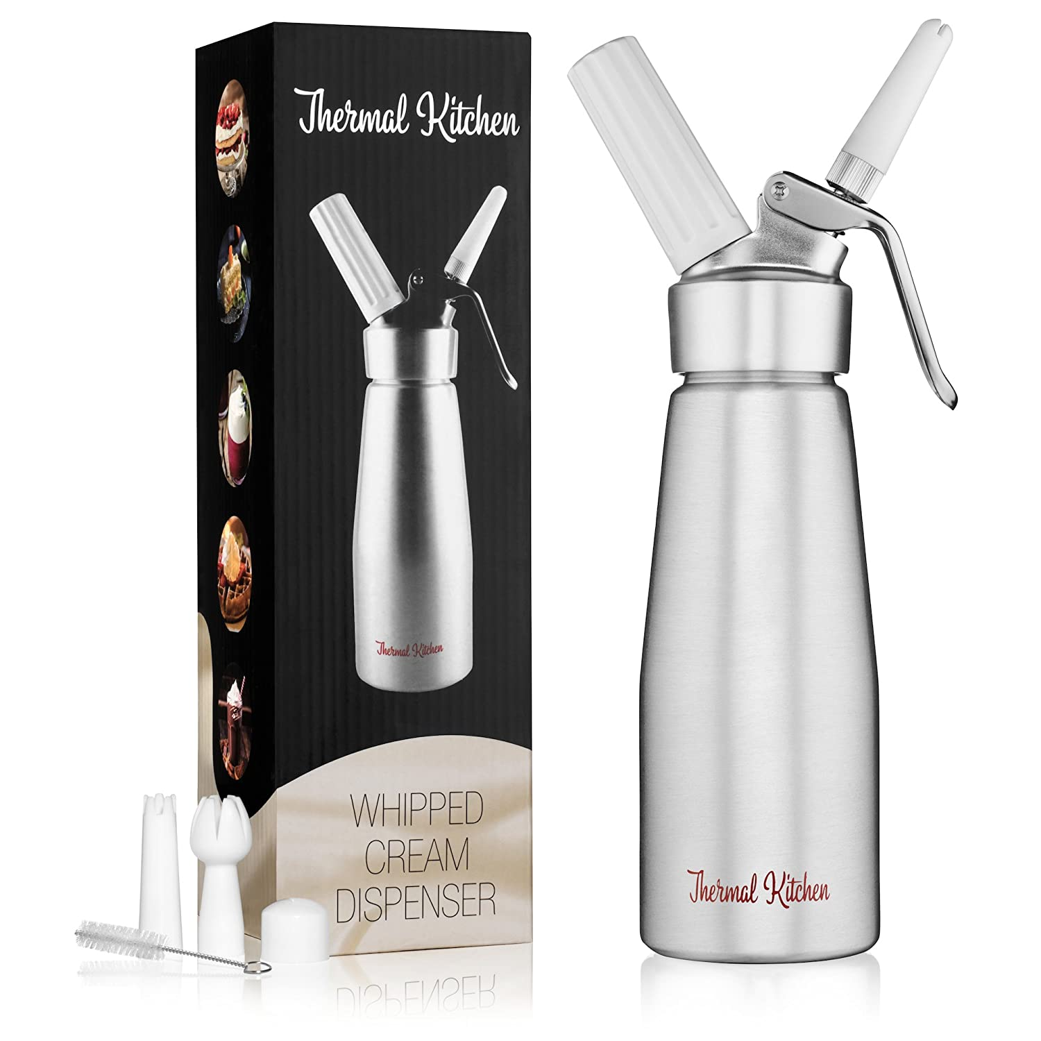 Professional Whipped Cream Dispenser – Reinforced Leak-Free Canister Optimized for Consistent Cream Quality –