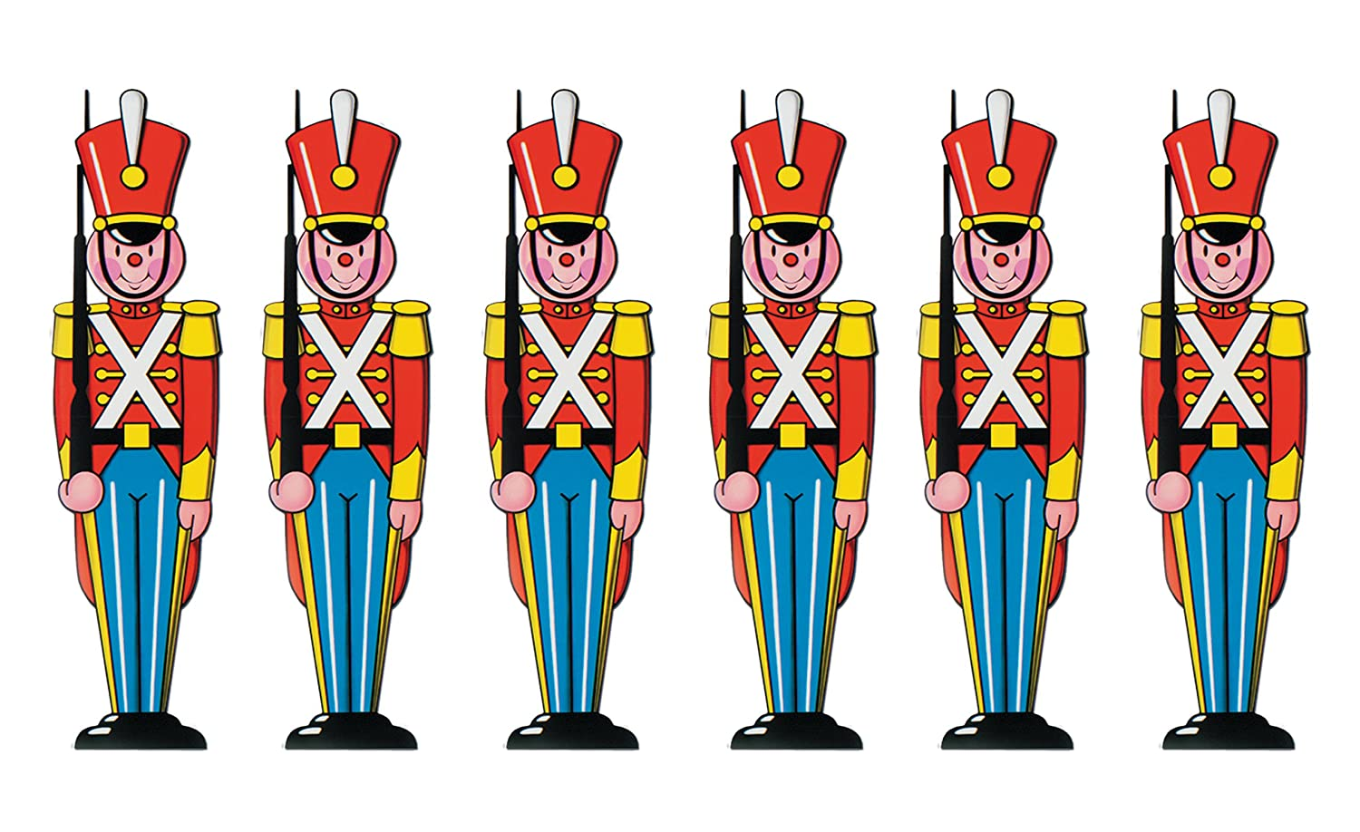 1//Pkg 1 count Toy Soldier Cutout Party Accessory The Beistle Company 22786