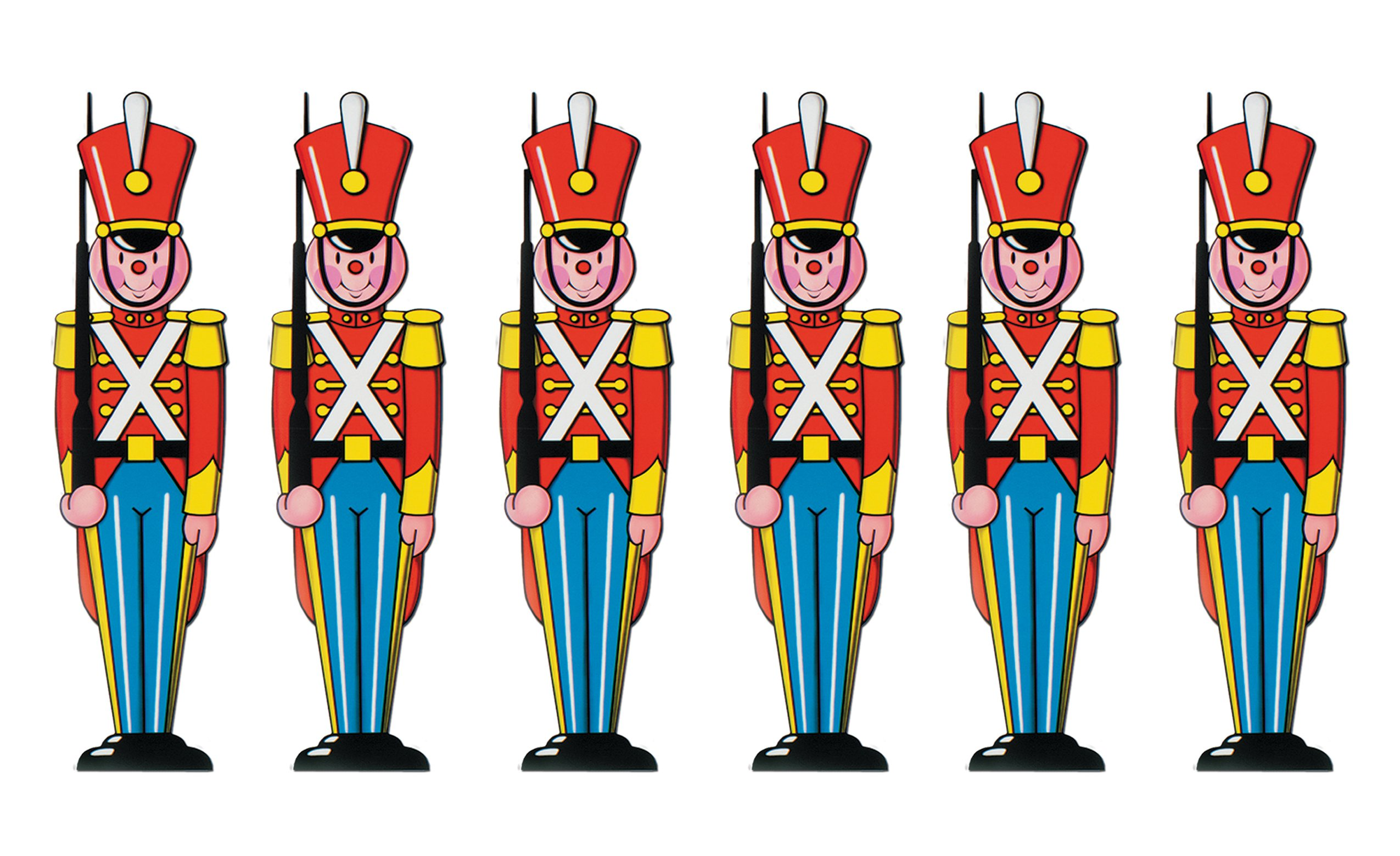 Beistle S22786AZ6 Toy Soldier Cutouts 35.5'', Pack of 6 by Beistle