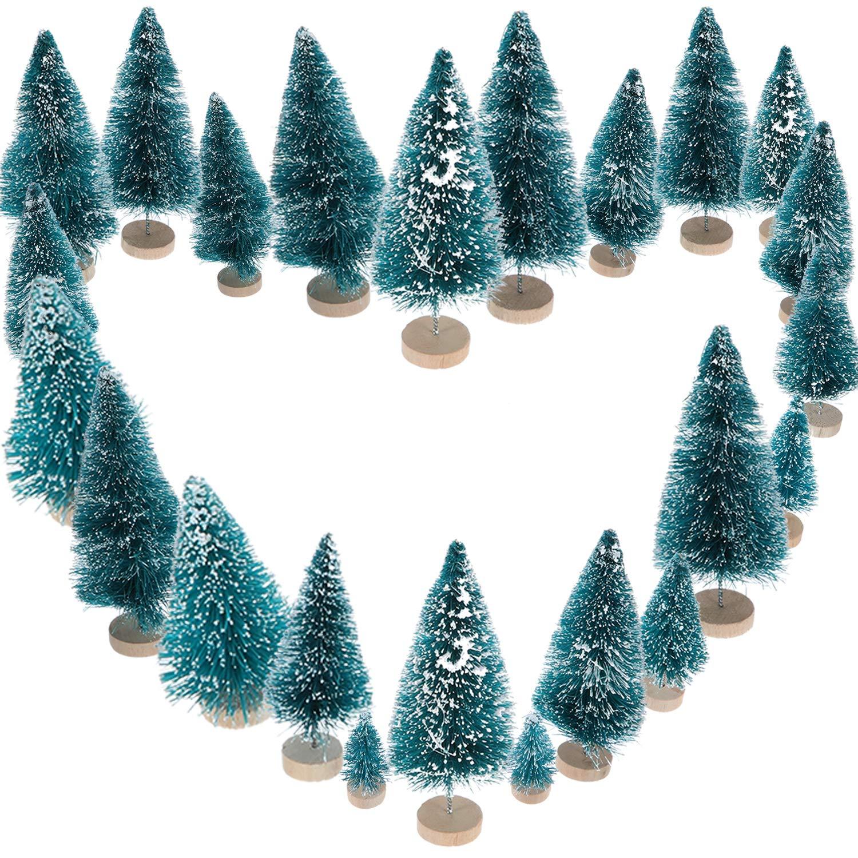 Amazon.com: Sumind 45 piezas Mini sisal nieve árboles de ...