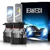BEAMTECH H7 LED Bulb,30mm Heatsink Base CSP Chips 10000 Lumens 6500K Xenon White Extremely Super Bright Conversion Kit…