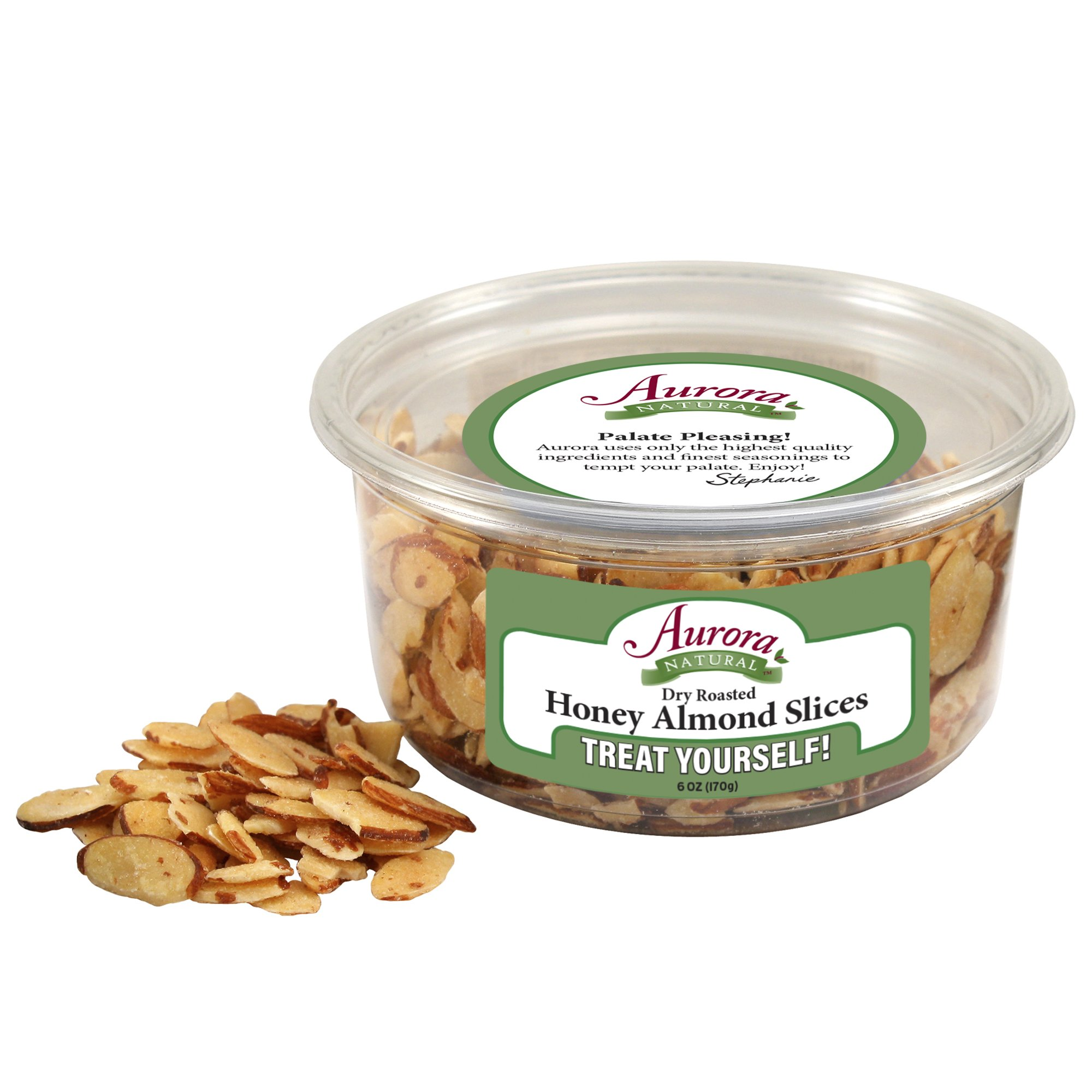 Aurora Natural Products Honey Roasted Sliced Almonds, 6 Ounce