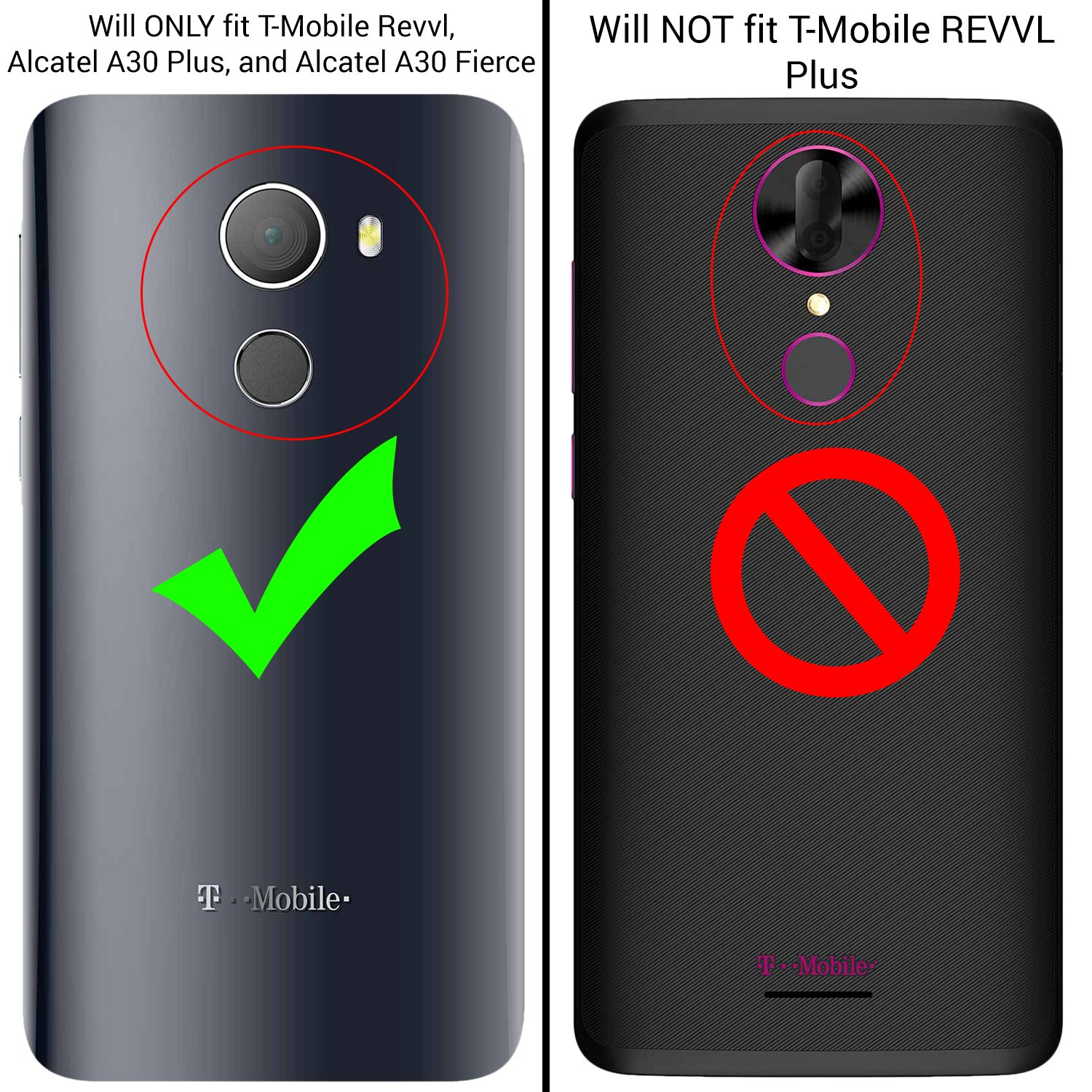 T-Mobile REVVL Case with [Tempered Glass Screen Protector], Alcatel A30  Fierce (MetroPCS) / Alcatel A30 Plus 5 5'' / Alcatel Walters, NageBee  [Heavy